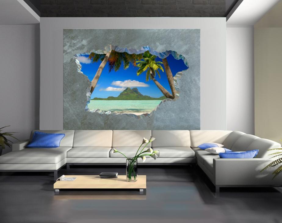 Trompe L Oeil Adesivi Murali.Casa Moderna Roma Italy Trompe L Oeil Su Muro