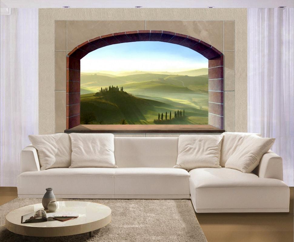 Paesaggi trompe l\'oeil - Murali trompe l\'oeil e decorazioni ...